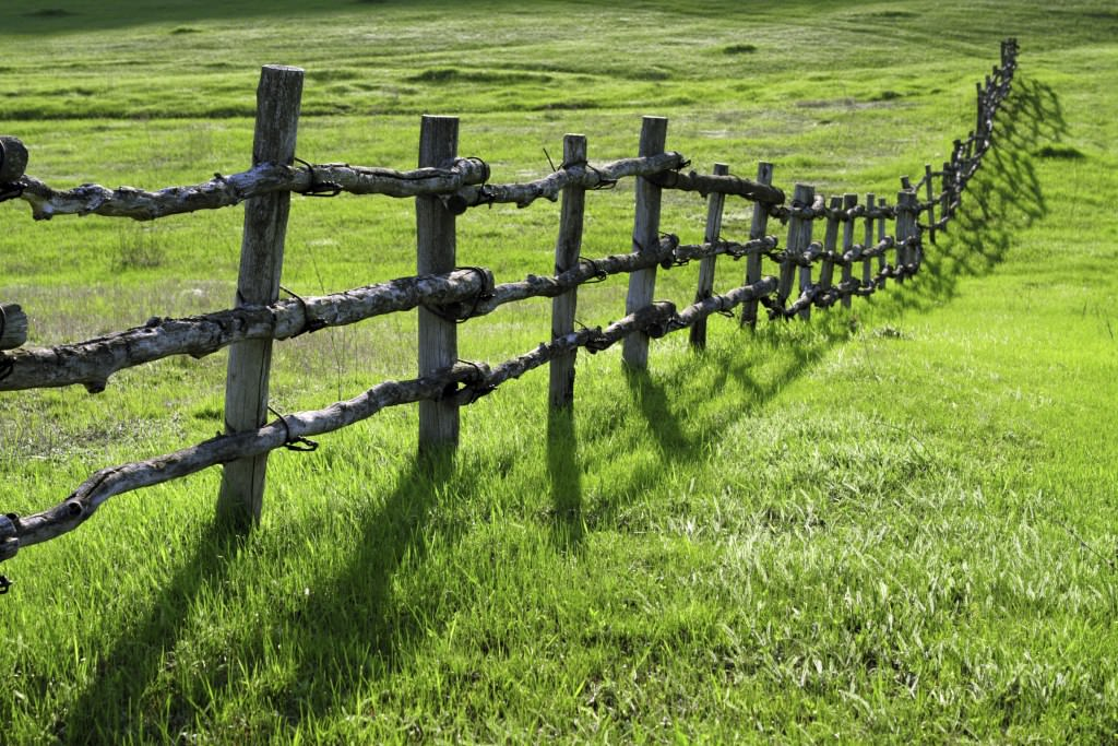 Rustic Post and Rail Fencing